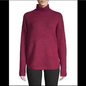 French connection red wool blend turtleneck